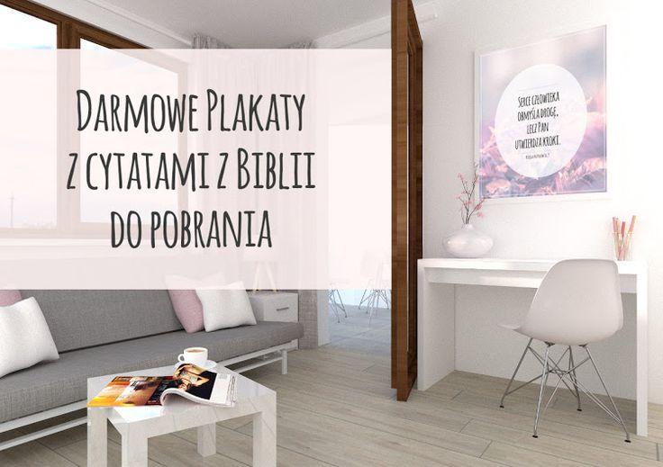 Plakaty z cytatami z Biblii
