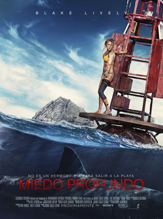 I'm watching this movie right now and I'll never get in the water again