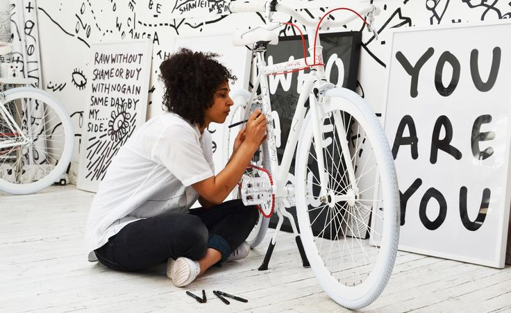 Art in motion: Shantell Martin puts her stamp on Martone Cycling Co.'s designs | Lifestyle | Wallpaper* Magazine