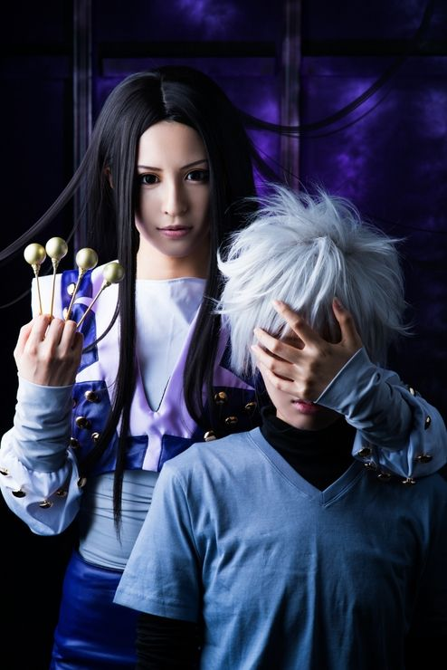 Illumi and Killua Zoldyck cosplay - Hunter x Hunter<< oh this is accurate