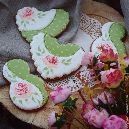 """""""Фарфоровый праздник"""" пряники козули - бледно-розовый,Праздник,печенье"""