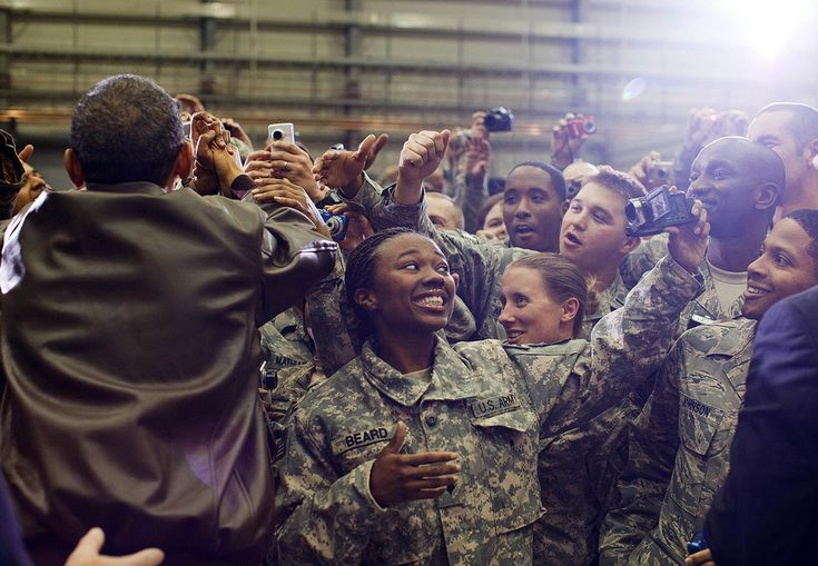 "https://flic.kr/p/9622a9 | P120310PS-0751 | Dec. 3, 2010 ""The President greets U.S. soldiers at Bagram Airfield after an all-night, unannounced flight to Afghanistan. We were scheduled to helicopter to Kabul to meet with Afghan President Hamid Karzai, but that portion of the trip was canceled due to heavy winds."" (Official White House Photo by Pete Souza)  This official White House photograph is being made available only for publication by news organizations and/or for personal use..."