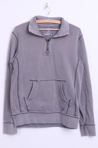 Originals Fot Face Mens S Sweatshirt Zip Neck Washed Look Cotton - RetrospectClothes