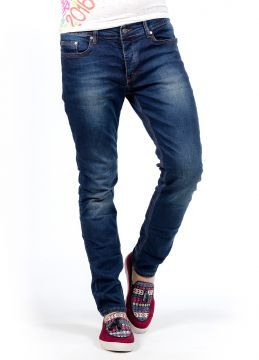 Koyu Mavi Dikişli Yeni Sezon Erkek Kot Pantolon