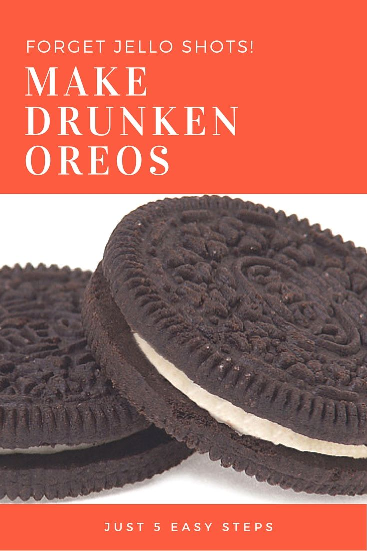 Make your cookie-loving dreams come true with alcohol-infused Oreos.