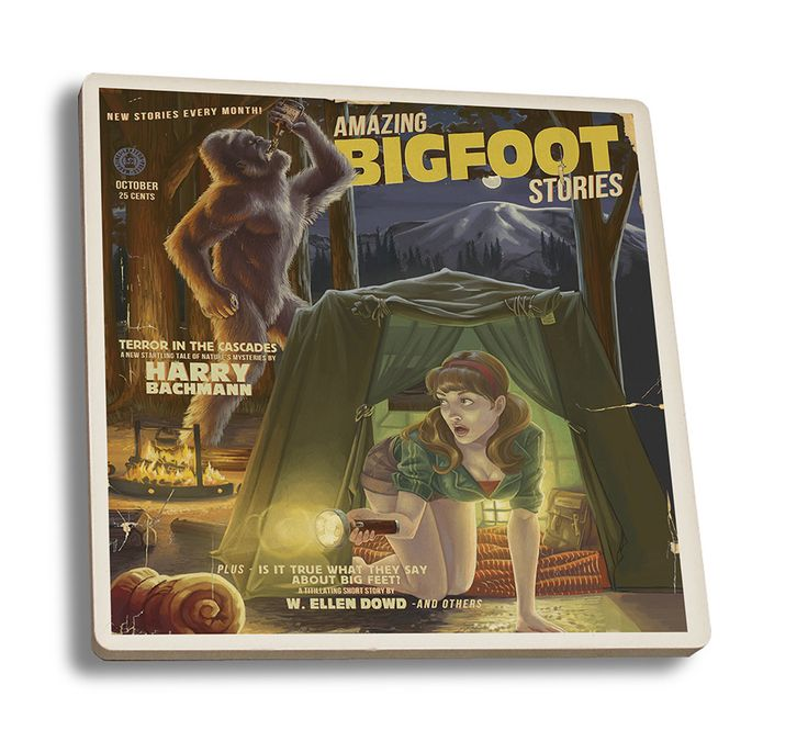 Coaster (Amazing Bigfoot Stories - Lantern Press Artwork)