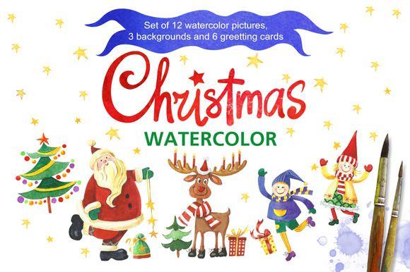 Christmas watercolor by Marina.Markizova on Creative Market
