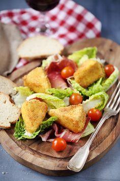 Salade au Royal crémeux pané