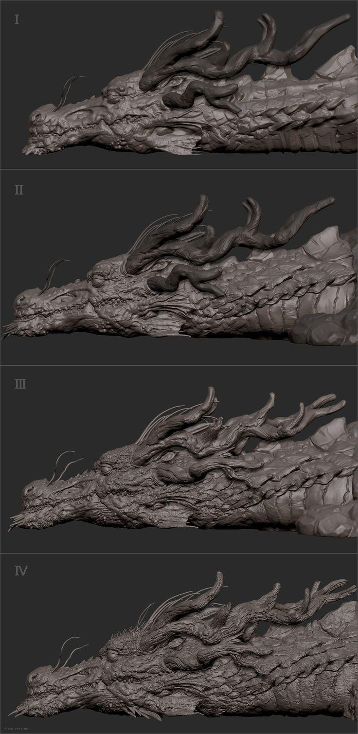 ArtStation - The last dragon, Zhelong XU