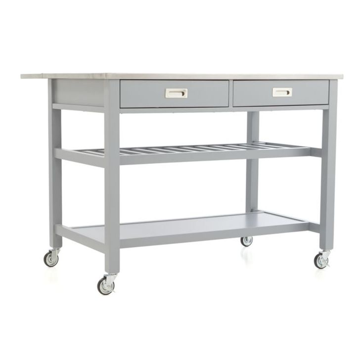 Sheridan Grey Kitchen Island | Crate and Barrel For folding laundry