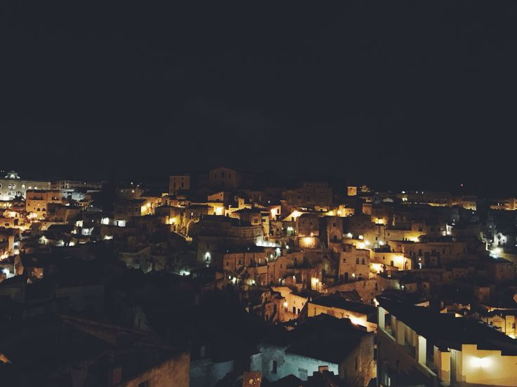 #Matera in #Italy by night