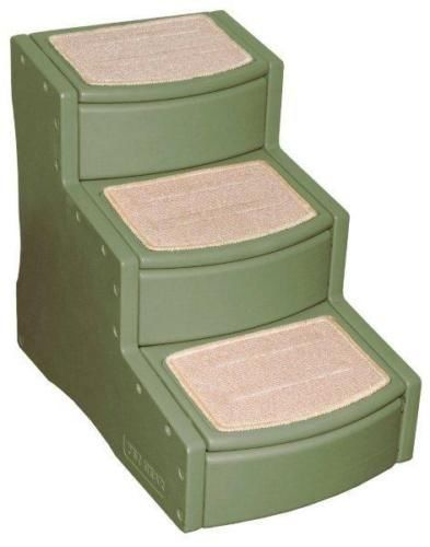 """Pet Gear 24"""" Easy Steps III Dog Cat 3 Stairs Ramp - Sage Colors"""