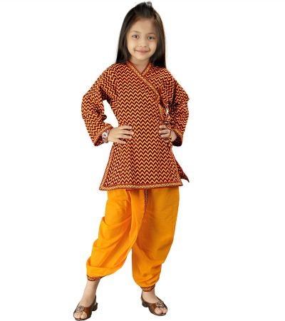 Rajasthani Kids Apparel  Sanganeri Motif Dhoti Angarkha Set  Offer Price Rs.581/-