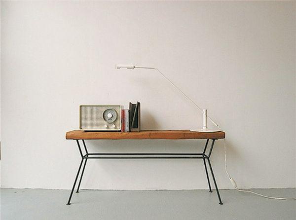 : Side Table, Interior, Room Workspace, Radio, Furniture Object, Desk, Wood Table, Furniture
