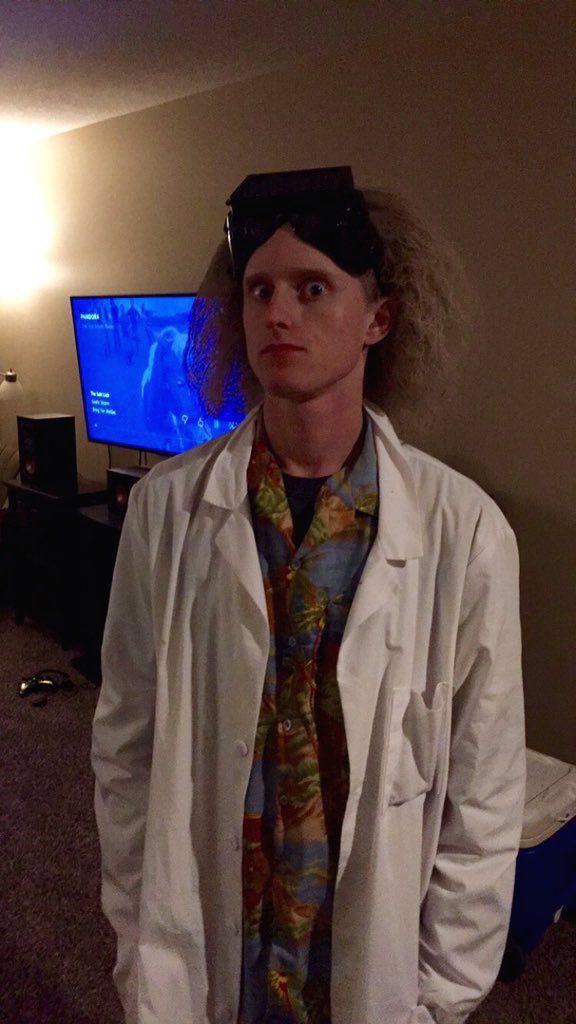 Great Scott! It's my Doc Brown costume for Halloween 2015