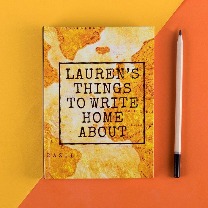 Personalised Diary - Write Home About It   GettingPersonal.co.uk