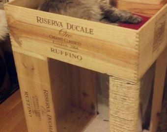 Le Condo de chat Original caisse de vin avec par NoCatLeftBehind