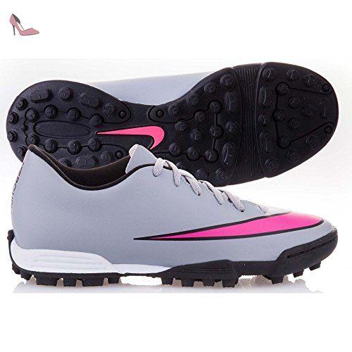 Nike JR Mercurial Vortex II TF Kinder Fussballschuhe wolf grey-hyper pink-black-black - 36 - Chaussures nike (*Partner-Link)