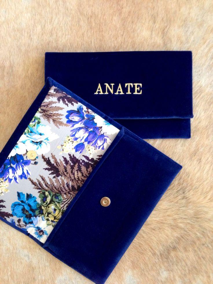 #velvet #blue #gold #silk #flowers