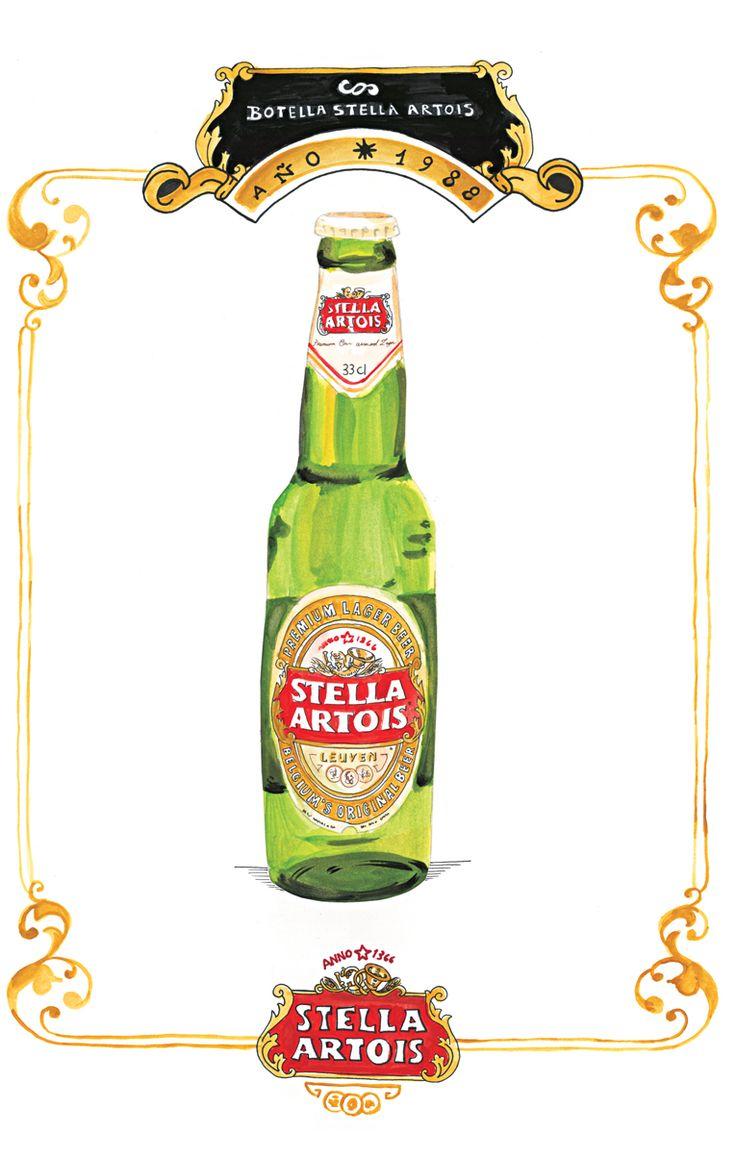 La botella de Stella Artois constituye la verdadera carta de presentación de la cerveza: su herencia, sus valores, su tradición, su historia de más de 600 años, su devoción por los detalles, su impronta artística, su sentido de pertenencia, su orgullo por no ser popular, su obsesión constante por la perfección.    Porque la excelencia no se improvisa, la botella de Stella Artois es un diseño perfecto.