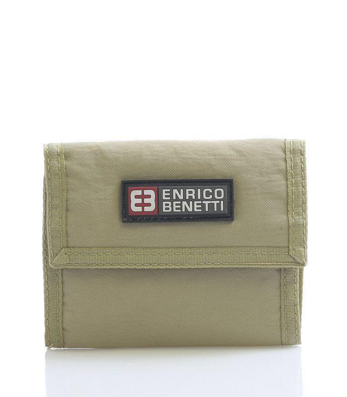 """#Enrico """"Benetti Praktická látková rozkládací peněženka Enrico Benetti v pískové barvě. Uvnitř přihrádka na zip na drobné, díle na karty, doklady, bankovky. Uzavírání je na suchý zip. Materiál pevný textil."""