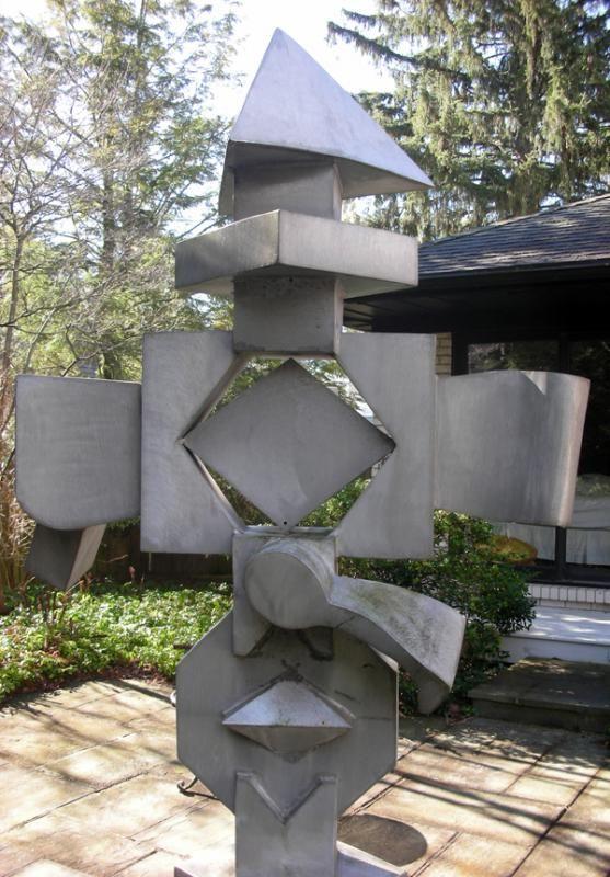 BILL BARRETT, BRUSHED ALUMINUM SCULPTURE - Price Estimate: $12000 - $15000