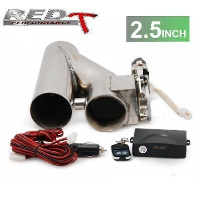 EXHAUST CATBACK TURBO ELECTRIC E CUTOUT Y PIPE WITH REMOTE 2.5