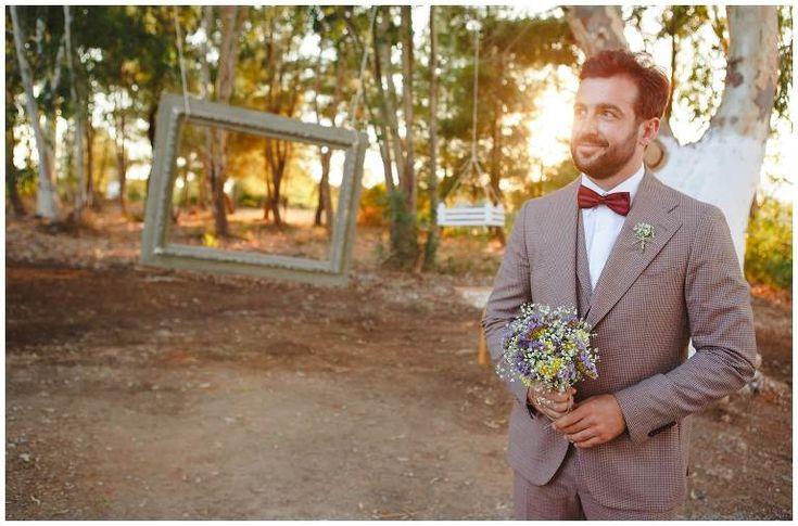 Elegant groom waits for his bride