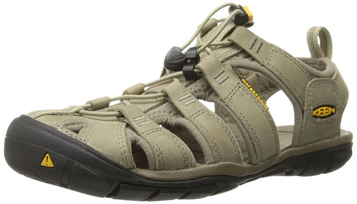 KEEN Women's Clearwater CNX Leather Sandal * Startling review available here  : Closed toe sandals