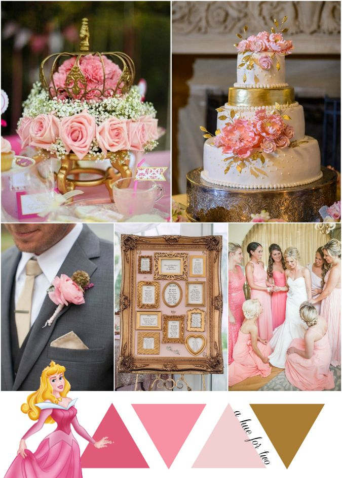 Pink And Gold Wedding Sleeping Beauty Inspired Disney Weddings A Hue For