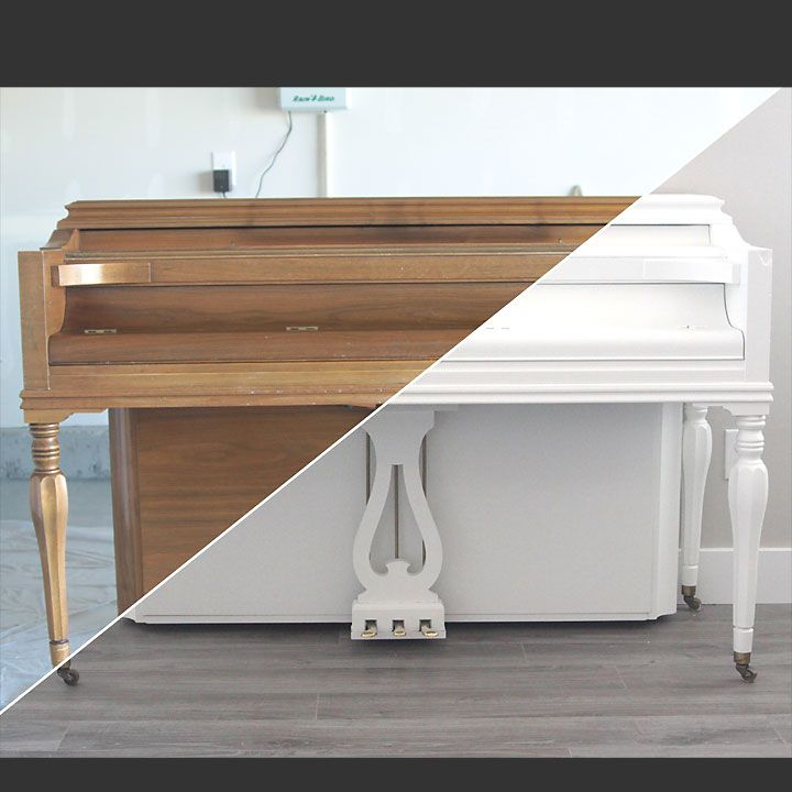 Learn how to paint your piano the easy way with this step by step tutorial. How to refinish an old piano - easy DIY.