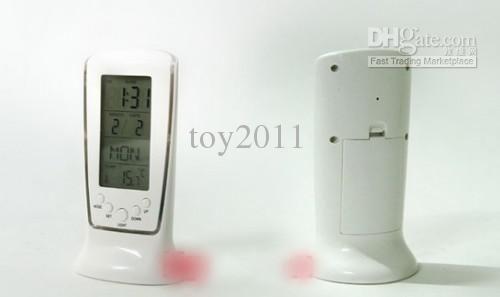 magic design moderno relógio despertador digital com termômetro amp; luz de fundo