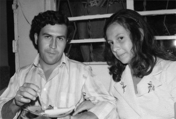 Pablo Escobar and gf/Wife 1970s [570x387]