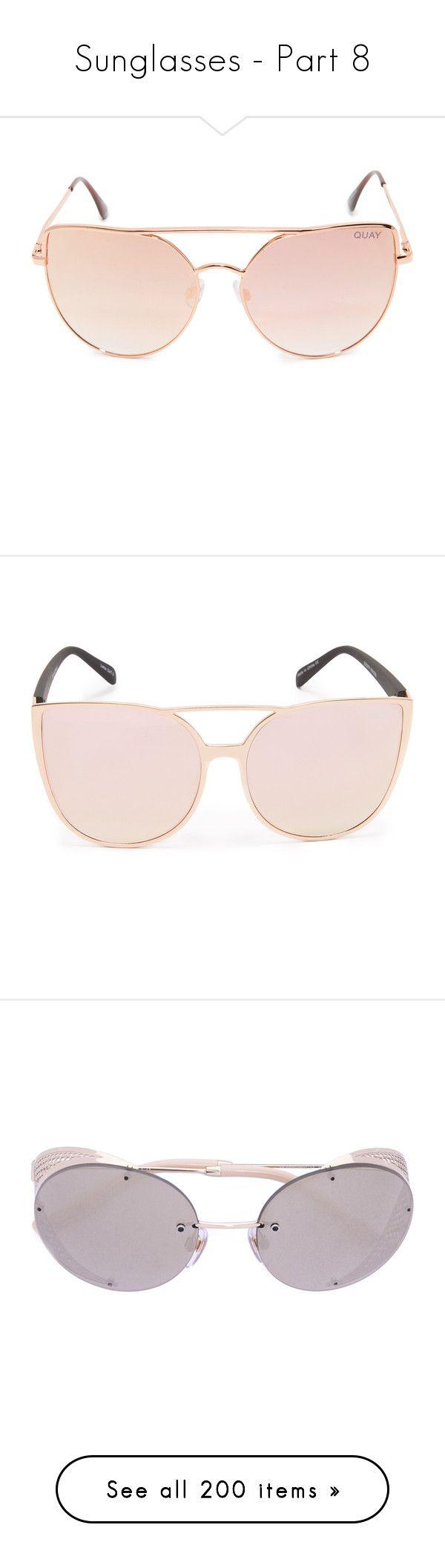 """Sunglasses - Part 8"" by emavera ❤ liked on Polyvore featuring accessories, eyewear, sunglasses, cat eye aviators, cat eye aviator sunglasses, mirror aviator sunglasses, mirrored aviators, mirror sunglasses, oversized sunglasses and quay eyewear"