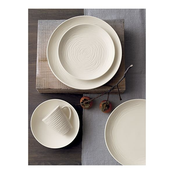 Industrial designer Olivia Barry for Crate and Barrel (Spool Dinnerware Collection)