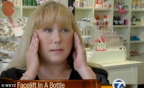 FaceLift In A Bottle: Palm Beach woman, Kimberly Aschauer, pictured, is charging just $24.99 for her non-surgical facelift