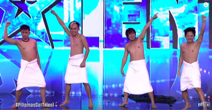 Mama's Boyz, composed of four boys, impressed the crowd for their funny performance on Pilipinas Got Talent Season 6 (PGT 2018). In an episode aired Saturday, January 6, the group performed their version of Japanese comedy dance wearing only towel. Their performance earned praises from the audience as well as from the four judges. The group will return to compete on the next episode of the competition. Pilipinas Got Talent Season 6 airs every Saturdays and Sundays on ABS-CBN network.