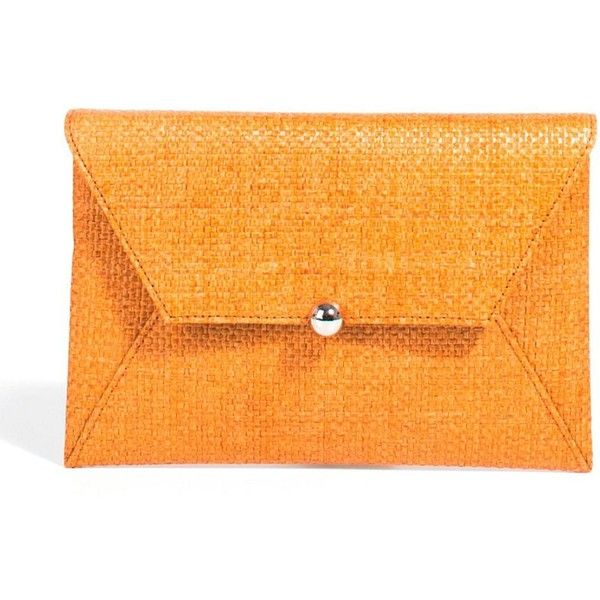 orange Evening clutch bags ❤ liked on Polyvore featuring bags, handbags, clutches, special occasion clutches, orange purse, orange handbags, evening clutches and cocktail purse