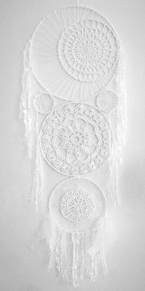 Bohemian Dreamcatcher - Crochet Dreamcatcher - Boho Wall Decor - Bohemian Decor - White Dreamcatcher - Extra Large Dreamcatcher by Kishayasdreamcatcher on Etsy https://www.etsy.com/nz/listing/512347135/bohemian-dreamcatcher-crochet