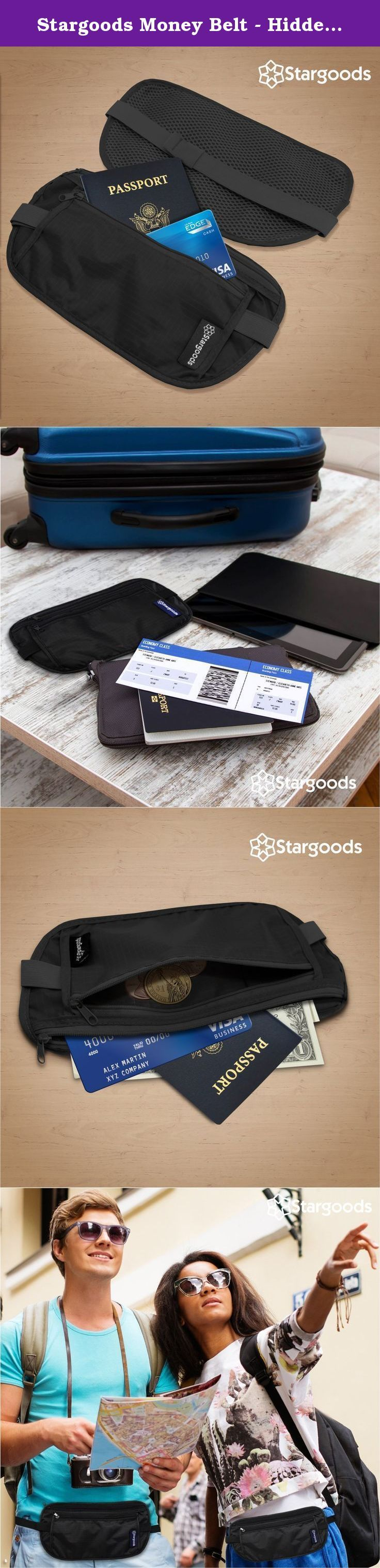Stargoods Money Belt - Hidden Travel Wallet & Passport Holder (Set of 2). With the Stargoods Money Belt you will always be ready to travel without risk of losing your valuable items (cash, debit or credit cards, notes) and documents (Passport, ID, Visa), carry everything you need at your waist where you can easily access them all the time, you can also wear it under your clothes for additional security, we all know there are never enough hands to carry stuff at the airport, use the money...
