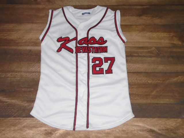 Check out these custom jerseys designed by Kaos Devastation Softball and created at Oregon City Sporting Goods in Oregon City, OR! http://www.garbathletics.com/blog/devastation-softball-custom-jerseys/ Create your own custom uniforms at www.garbathletics.com!