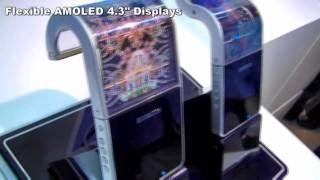 Samsung Youm Display - Flexible Display - AMOLED and Transparent OLED Screens, via YouTube.