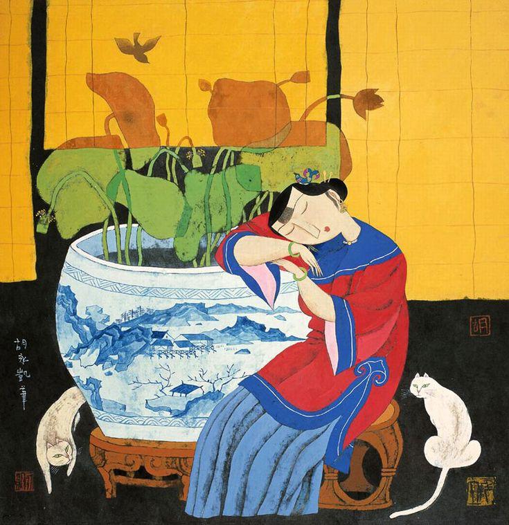 Hu Yongkai (胡永凱)  El artista nació en Beijing en 1945. Actualmente es miembro de la China y Hong Kong Asociación de Artistas y miembro del consejo de la Asociación China de Artistas de los Estados Unidos de América. Fue profesor de la Escuela de Bellas Artes de la Universidad de Shanghai. Se ha desempeñado en numerosas exposiciones individuales en EE.UU., China, Taipei, Hong Kong, Singapur y Alemania, así como participó en Art Expo Arte de Tokio 'de Asia, Singapur y Tresors' Expo Arte de…