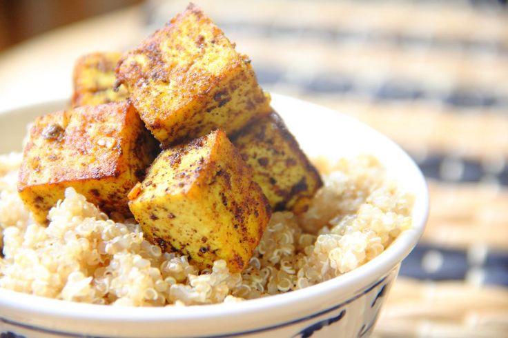 Caribbean Tofu & Coconut Quinoa
