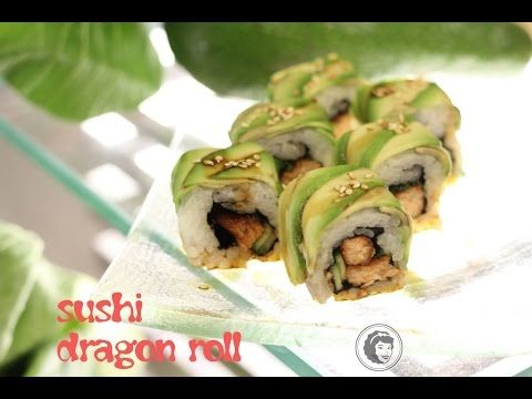 Sushi dragon roll - Kotlet.TV - YouTube