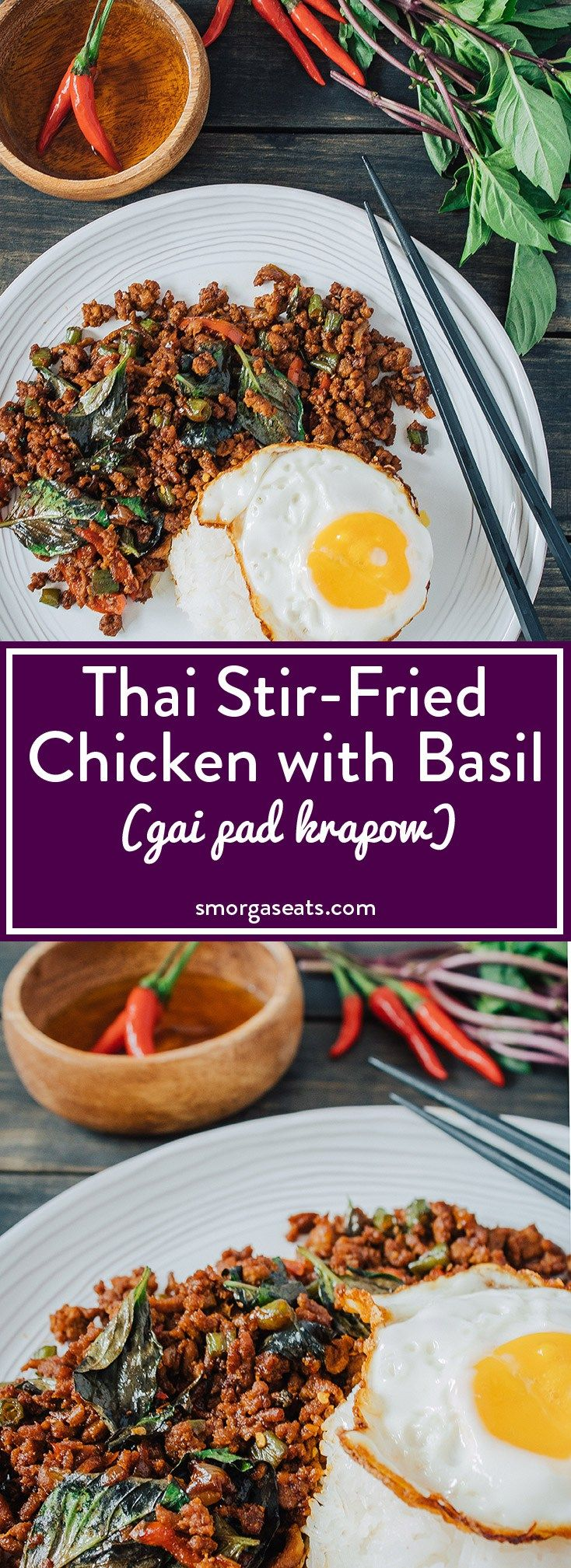 Thai Stir-Fried Chicken with Basil (Gai Pad Krapow)