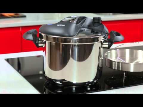 Join the pressure cooker revolution with the Tower 6L One Touch Stainless Steel Pressure Cooker! Tower pressure cookers cook food in around a third of the time, preserve 95 percent of the vitamins and nutrients, and use almost 90 percent less fuel.