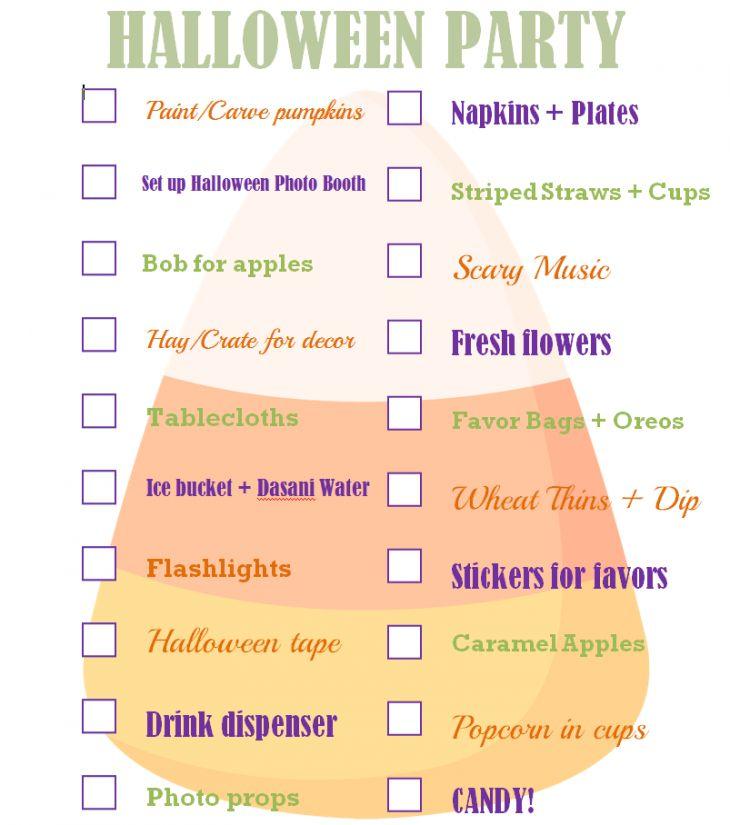 Halloween Party Checklist Free Printable