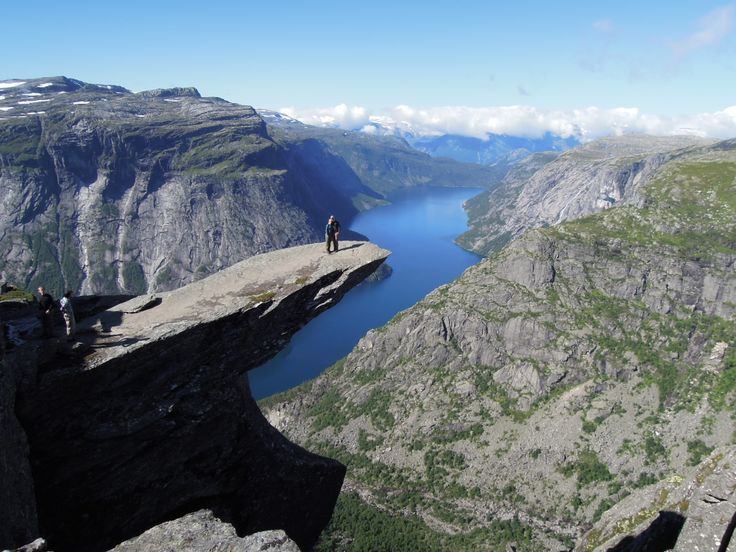 Hiking with two good friends, Trolltunga, Norway!
