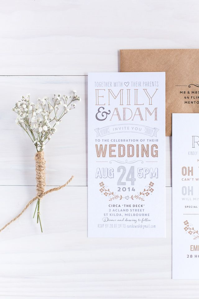 Down the Aisle Wedding invitation design by The Print Fairy